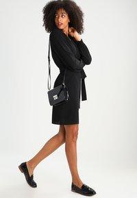 Kaffe - BLAKE WRAP DRESS - Day dress - black deep - 2