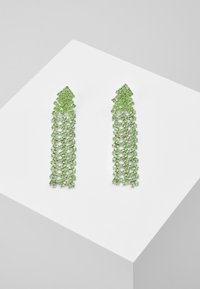 Pieces - PCDICTE EARRINGS - Øredobber - silver-coloured/green ash - 0