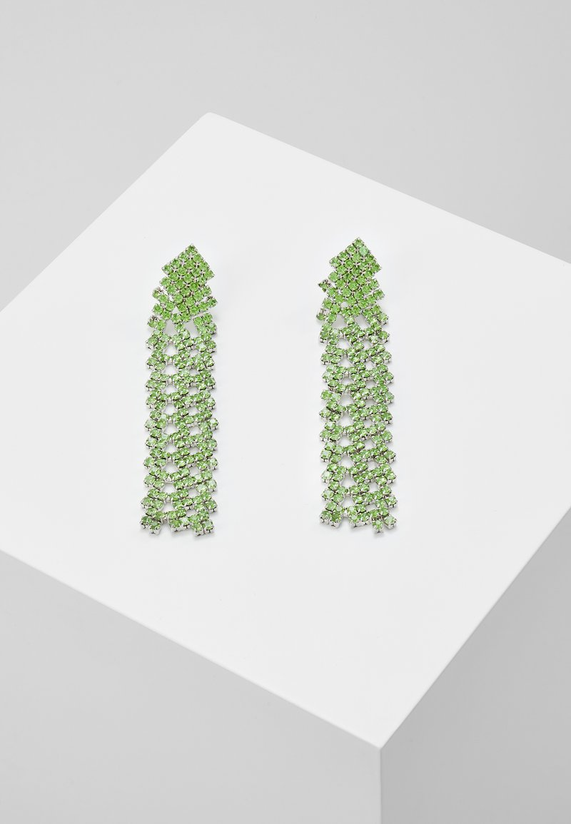 Pieces - PCDICTE EARRINGS - Øredobber - silver-coloured/green ash
