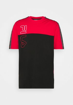 OJAS TEE - T-shirt print - black/true red