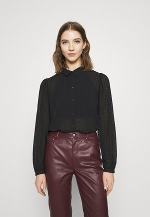 JDYDIANE PUFF SHIRT - Button-down blouse - black