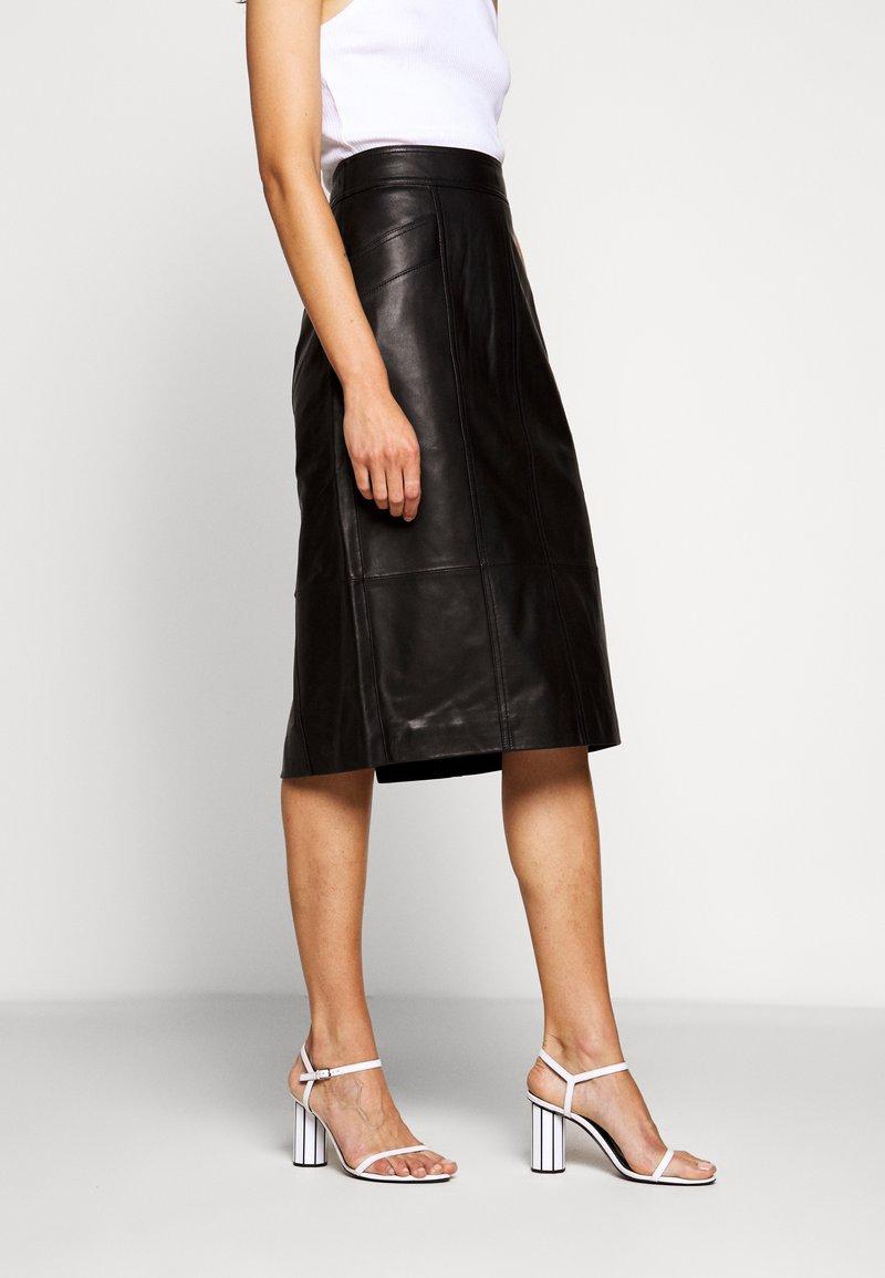 Proenza Schouler White Label - LIGHTWEIGHT PENCIL SKIRT - Pouzdrová sukně - black