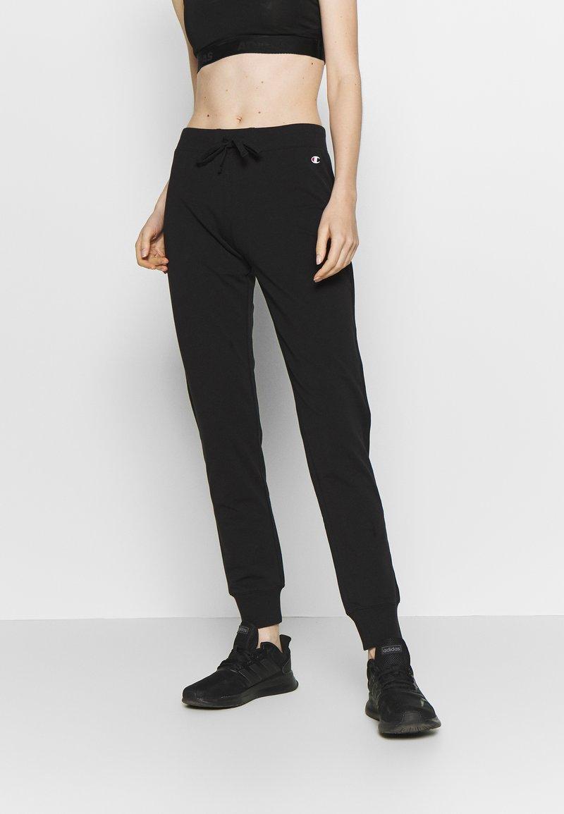 Champion - RIB CUFF PANTS - Tracksuit bottoms - black