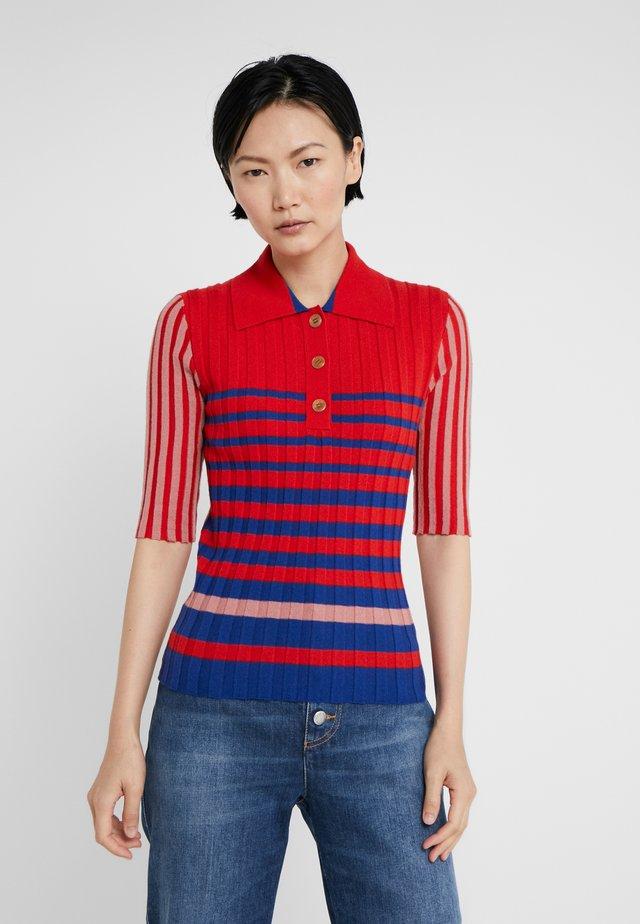 T-shirt med print - carmin/lapis