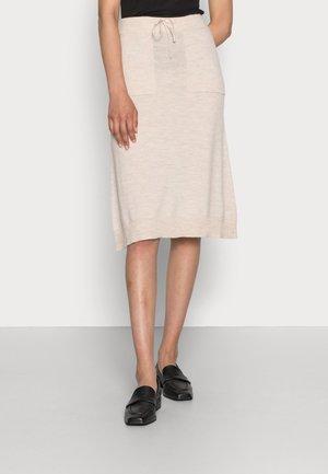 LUCIA - A-line skirt - nougat melange