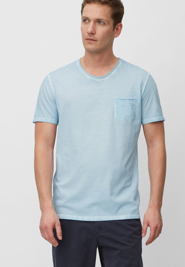 SHORT SLEEVE RAW - T-shirt - bas - airblue
