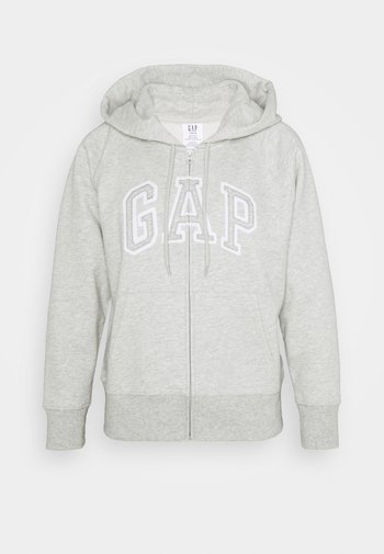 Mikina na zip - light heather grey