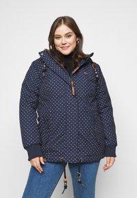 Ragwear Plus - DANKA DOTS - Zimní kabát - navy - 0