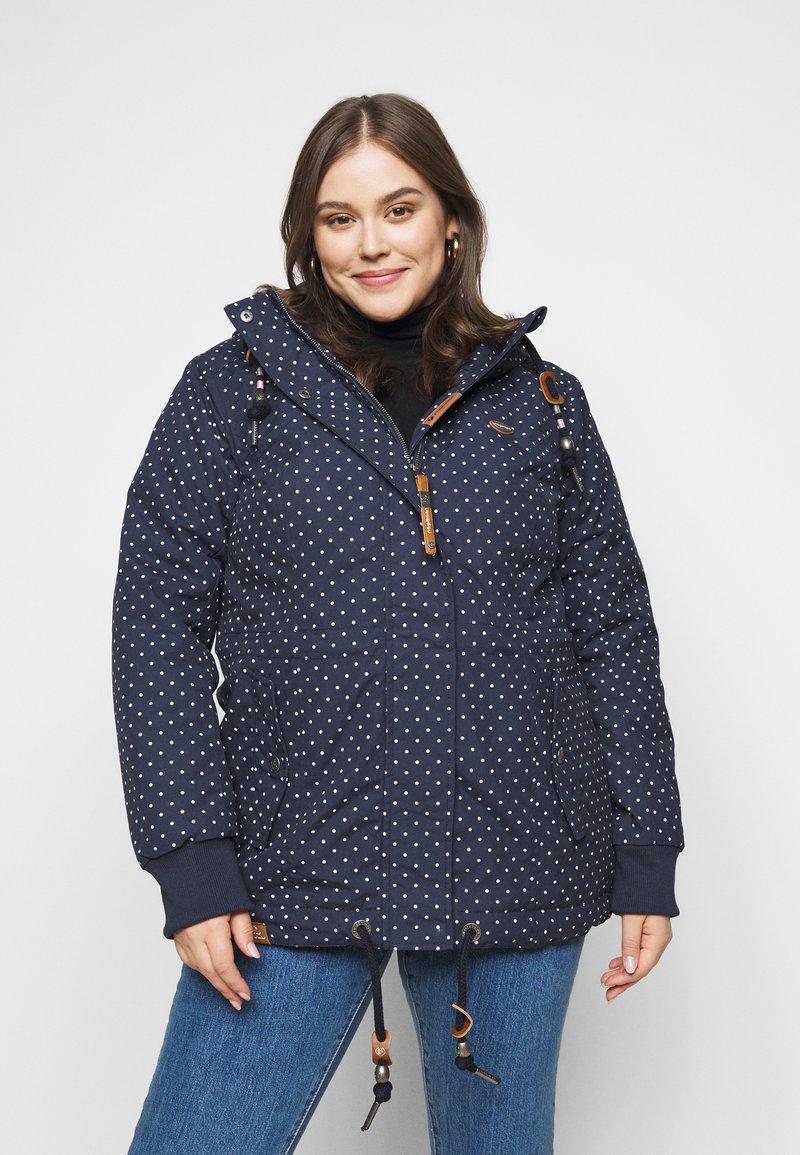 Ragwear Plus - DANKA DOTS - Zimní kabát - navy