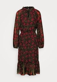 DAMIA - Day dress - black/red