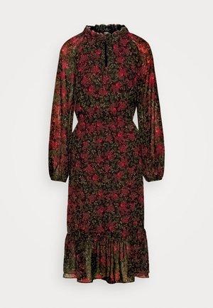 DAMIA - Vestido informal - black/red