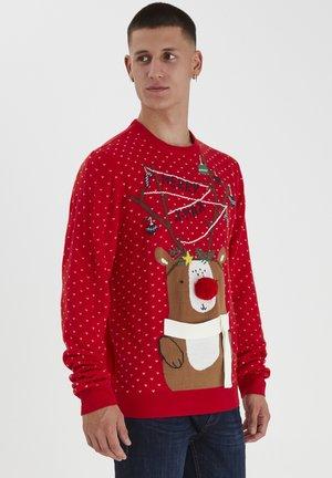 CHRISTMAS SPECIALS - Stickad tröja - mars red