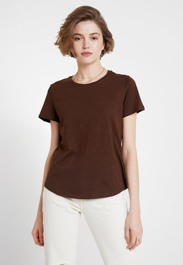 THE CREW - T-shirt basic - coffee bean