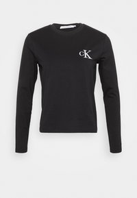 Calvin Klein Jeans - EMBROIDERY TIPPING - Long sleeved top - black - 3