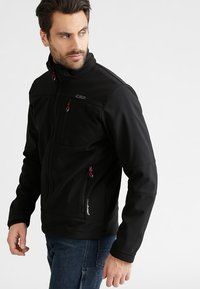 CMP - MAN JACKET ZIP HOOD - Soft shell jacket - nero - 3