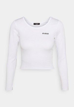CROP - Long sleeved top - true white