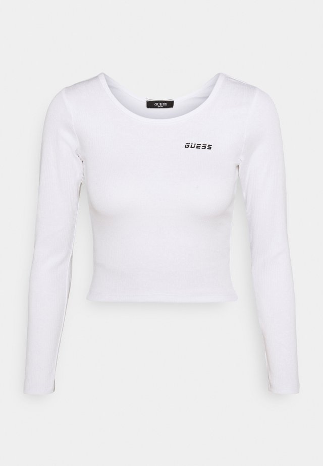CROP - Long sleeved top - true white