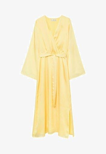 Denní šaty - pastelowy żółty