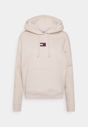 CENTER BADGE  - Hoodie - smooth stone