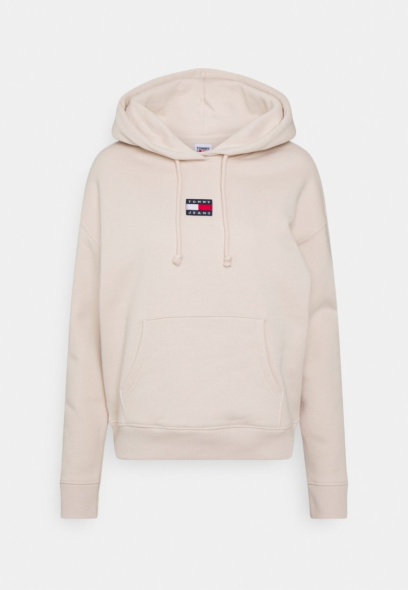 Tommy Jeans - CENTER BADGE  - Hoodie - smooth stone
