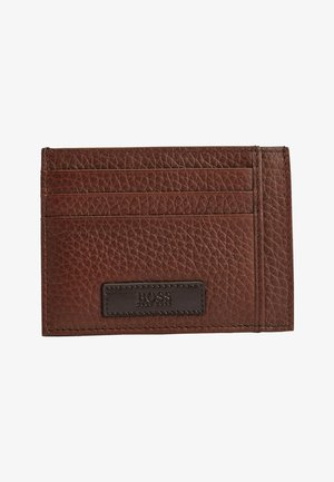 Business card holder - open brown