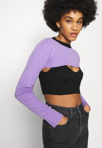 The Ragged Priest - DOUBLE LAYER - Maglione - black/lilac - 3