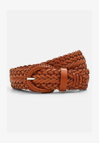 BRAIDED - Braided belt - caramel