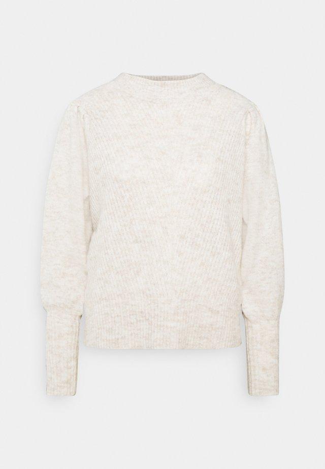 SLFLINNA O-NECK - Sweter - sandshell