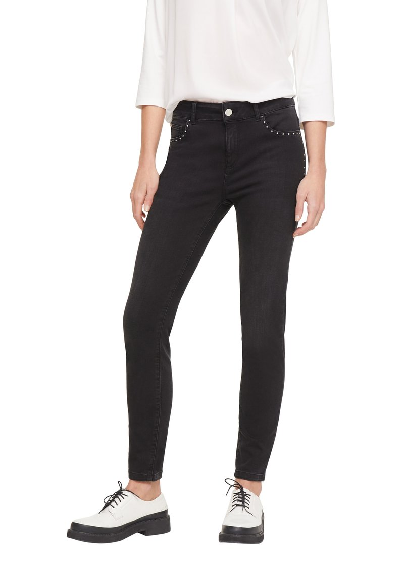 comma casual identity - HOSE LANG - Slim fit jeans - anthracite