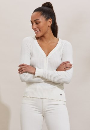 LINDSAY - Long sleeved top - light chalk