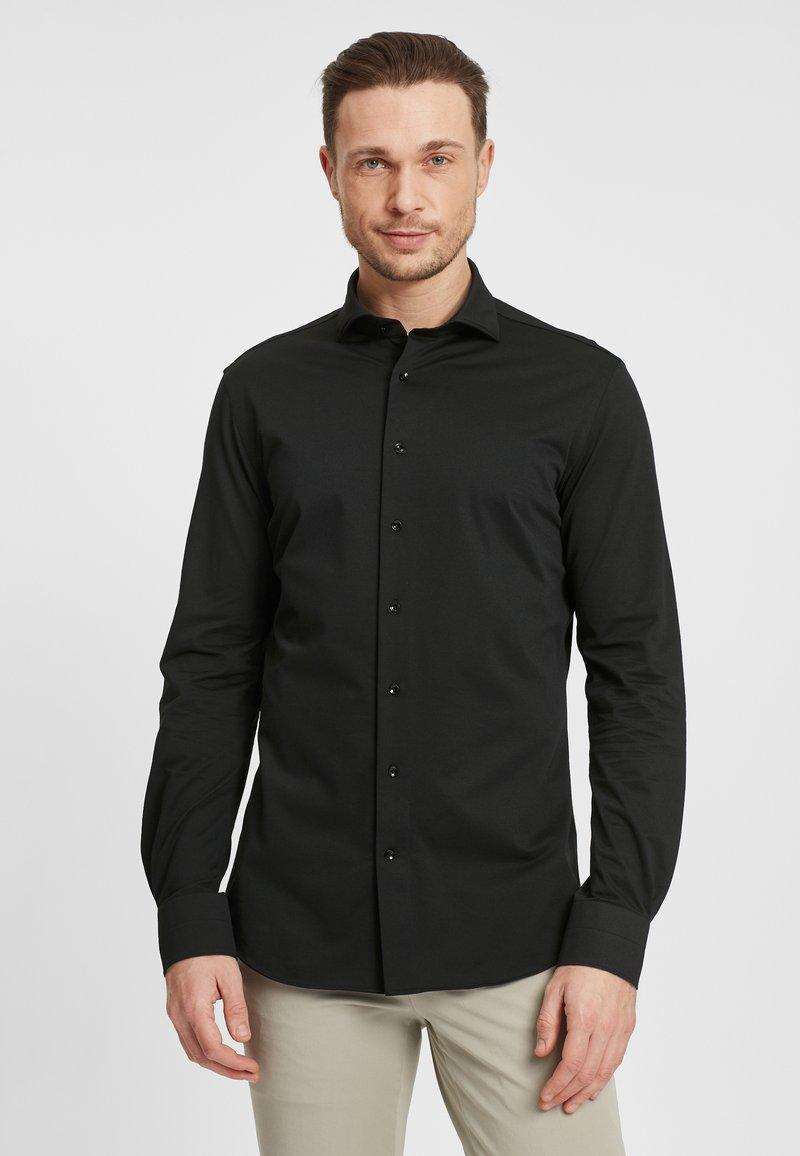 PROFUOMO - JAPANESE KNITTED - Shirt - black
