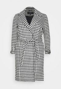 VMARIA LONG JACKET CURVE - Classic coat - black / white