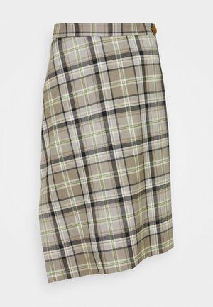 INFINITY SKIRT - Pencil skirt - green/beige
