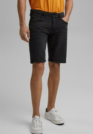Jeansshorts - black dark washed