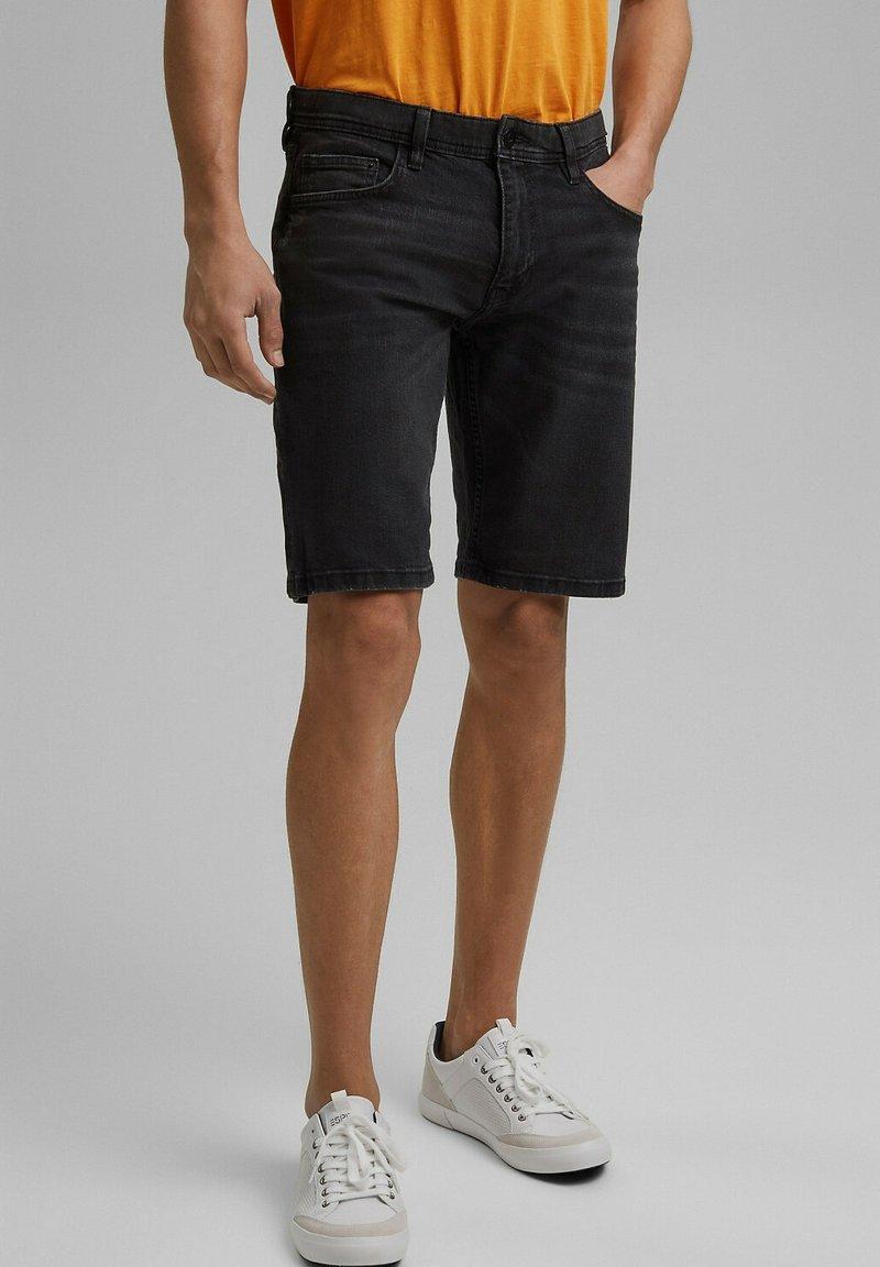 edc by Esprit - Denim shorts - black dark washed