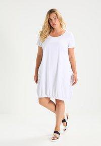 Zizzi - MMARRAKESH DRESS - Vestido informal - white - 1