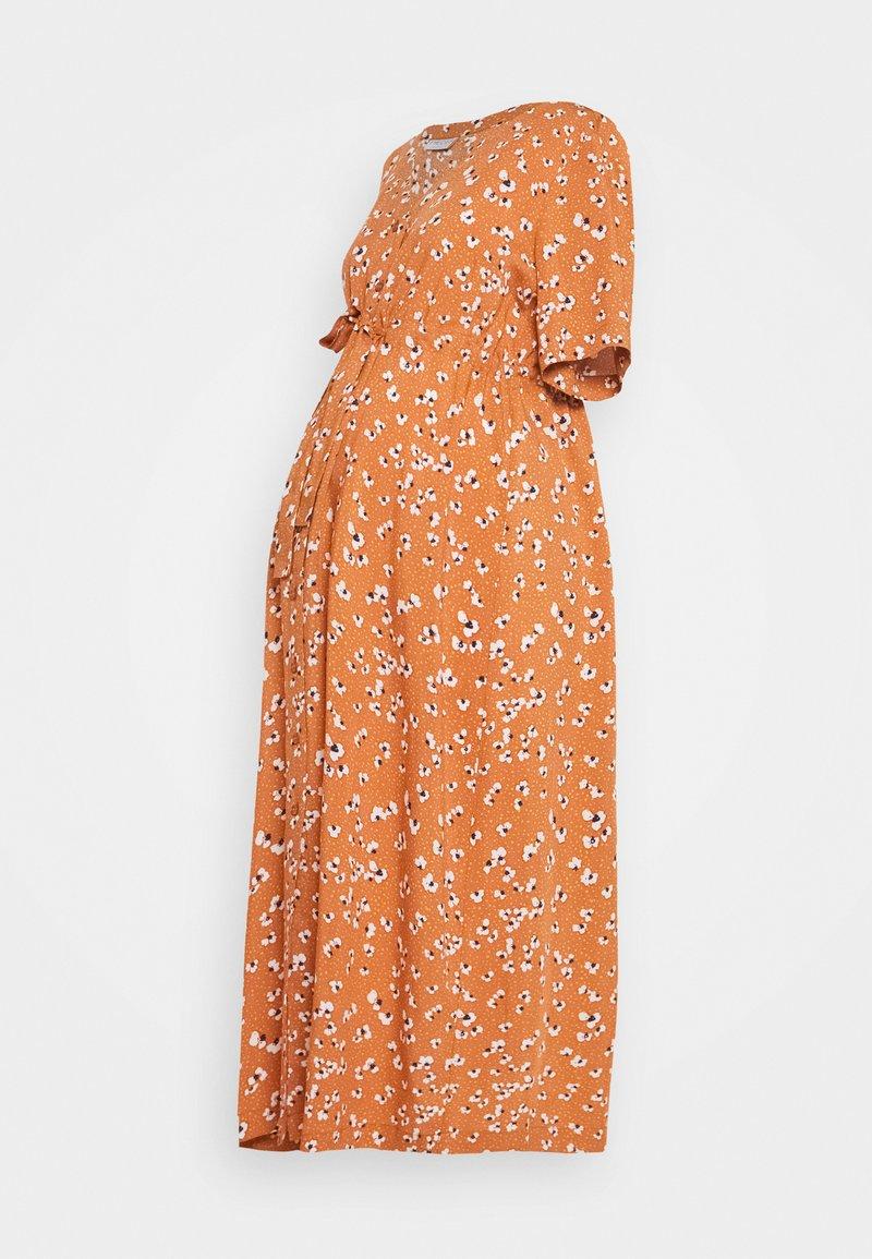 Pieces Maternity - PCMBECCA MIDI DRESS - Day dress - sunburn