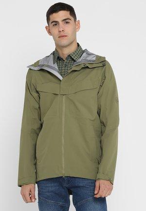 ZINAL HOODED JACKET MEN - Hardshell jacket - oliv