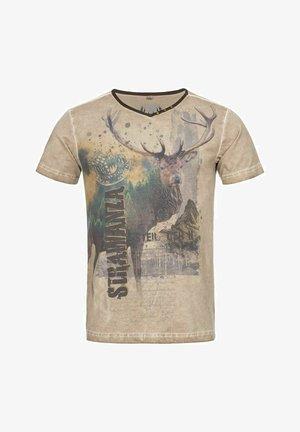 TRACHTENSHIRT CHRISTOPH IN BEIGE VON  TRACHTEN  - Print T-shirt - beige