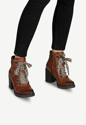 STIEFELETTE - High heeled ankle boots - chestnut a.c.