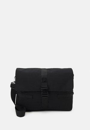 COATED MESSENGER BAG UNISEX - Laptop bag - black