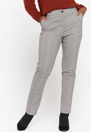 CHECK PATTERN  - Trousers - black/camel