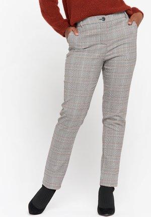 CHECK PATTERN  - Pantaloni - black/camel