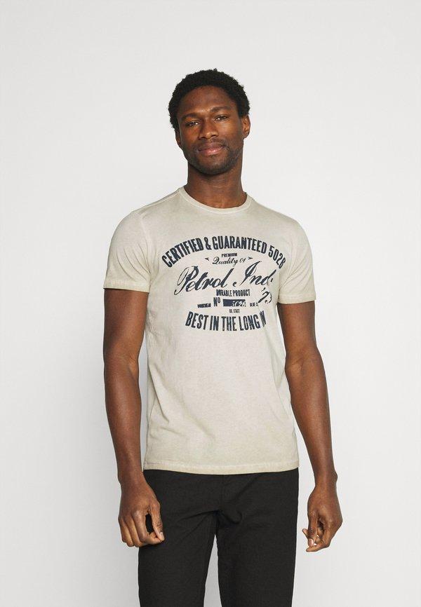 Petrol Industries T-shirt z nadrukiem - light kit/jasnoszary Odzież Męska KCMT