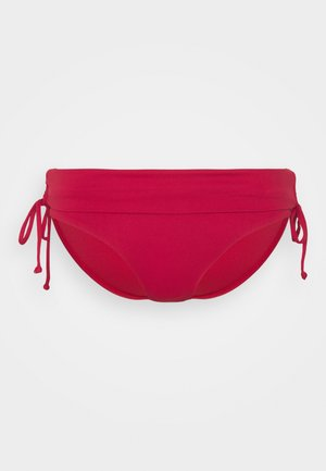 RUCHED SIDE HIPSTER - Bikini bottoms - rouge