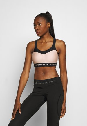 HIGH CROSSBACK BRA - High support sports bra - desert rose