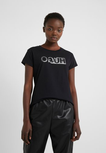 DIJALA - Print T-shirt - black