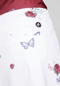 Cross Sportswear - FLOWER SKORT - Falda de deporte - white - 5