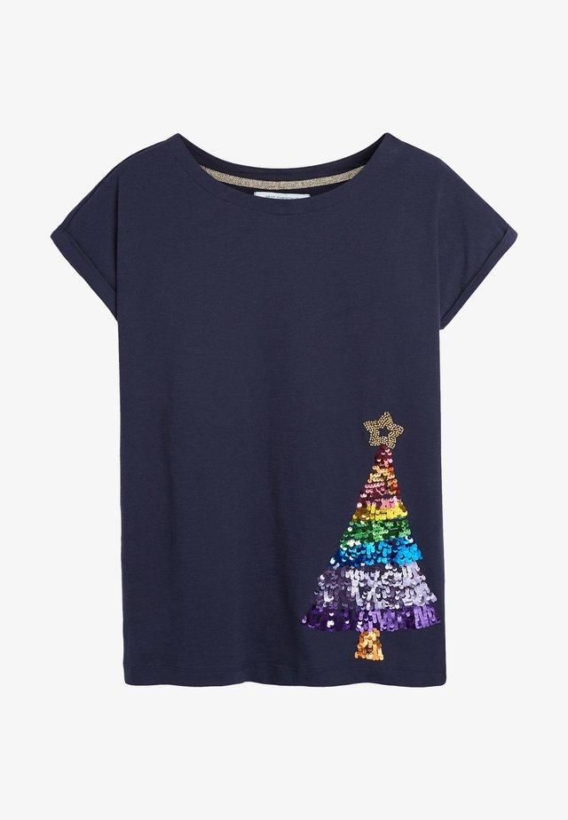 CAP  - Print T-shirt - blue