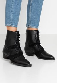 Day Time - KARRIE - Lace-up ankle boots - matrix nero - 0
